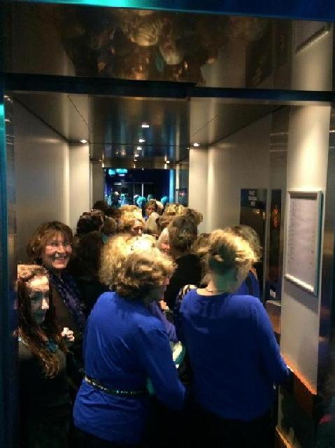 In de lift naar Cloud Nine (foto: Jim Terlingen)